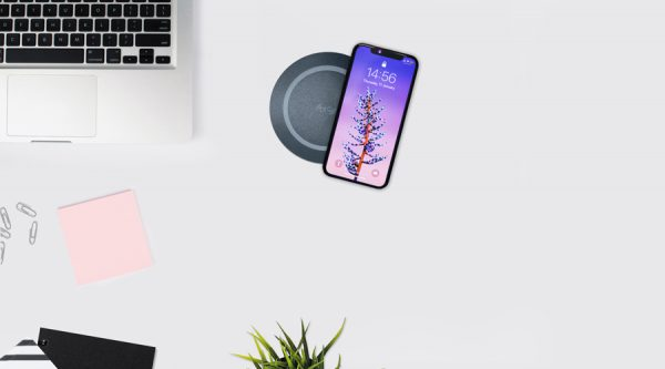 through surface charger, sub surface wireless charger, sleek wireless charger,
