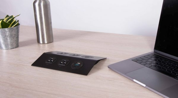 low profile accessible power unit with nema power and USB Charging