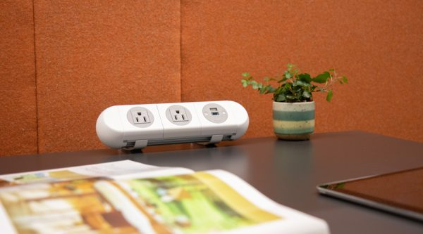 working from home, personal power unit, desk power unit,