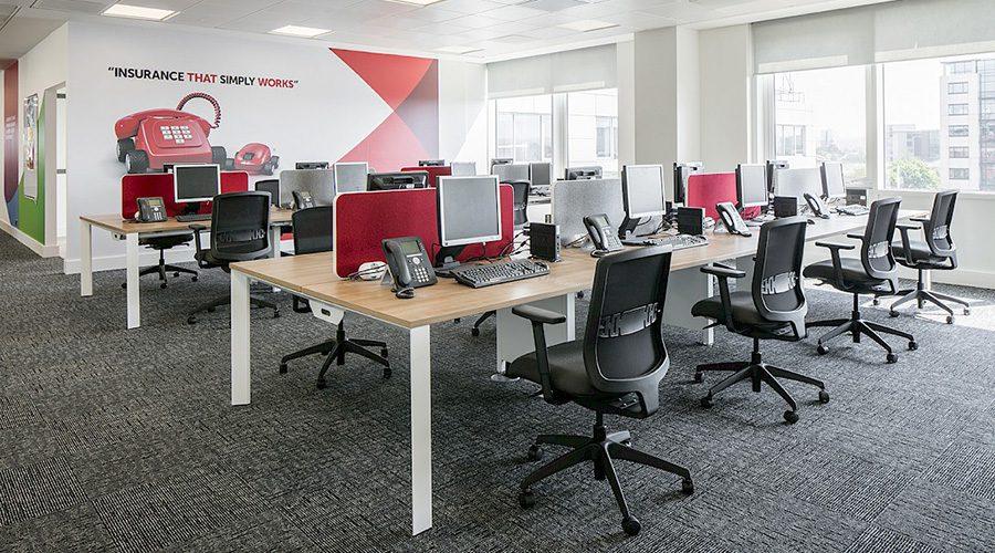 modern office, modern office design, modern powered office, office interior, power units for offices, office power installation, office power case study