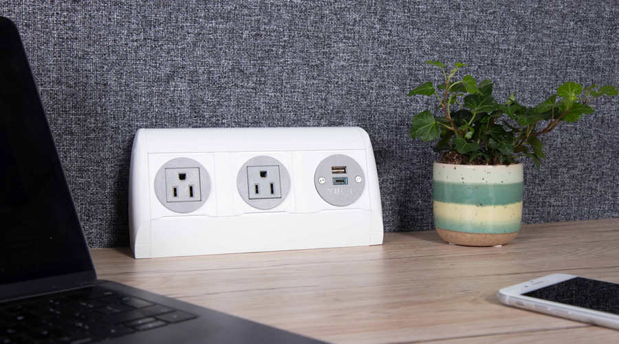 on surface, nema and USB fast charger