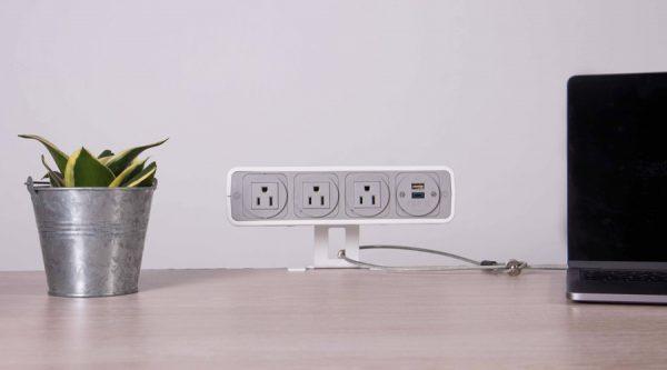 on surface power unit, nema power unit with usb power charging, Kensington lock for laptops