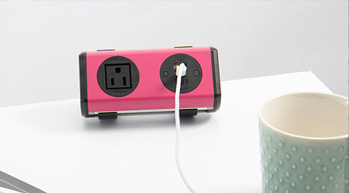 on surface power unit, bright power unit, colorful power unit with nema sockets and usb charging
