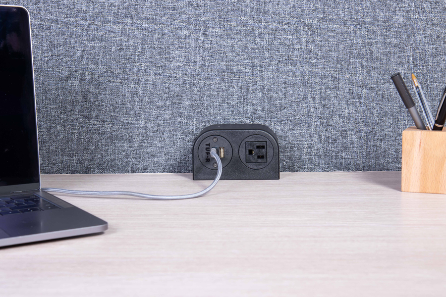 on surface power, on desk power, on workspace power, on surface usb,