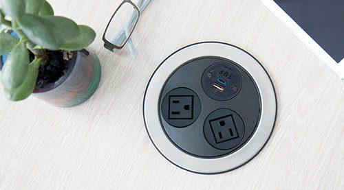 modern power unit, nema sockets, in surface,