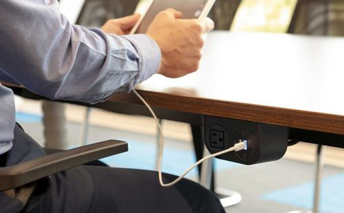 sleek under surface power, under desk power, under table power, mounted power, under surface usb and nema, accessible power