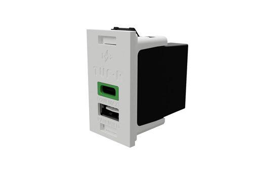 TUF005-Rectangle-White-Green-LED